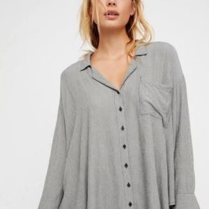 Free people Magic Breeze Striped Button Down Shirt